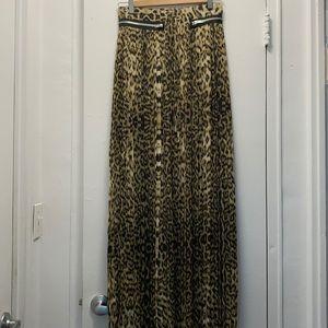 The Kooples leopard printed pleaded skirt